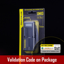 original New Arrival Nitecore Smart Battery Charger UM10 Digicharger LCD Display Universal USB Power For Li-ion Battery