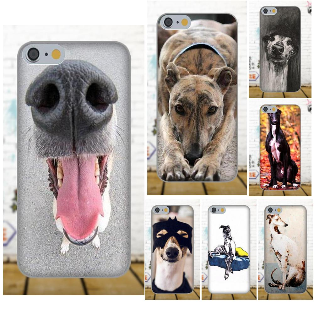 Galgo Greyhound Dog Funny Painted For Apple iPhone X 4 4S 5 5C 5S SE 6 6S 7 8 Plus For LG G3 G4 G5 G6 K4 K7 K8 K10 V10 V20