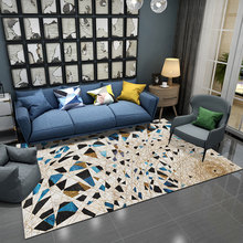 European style Living room carpet Nordic ins geometric bedroom mat Abstract ink painting decoration rug customize floor