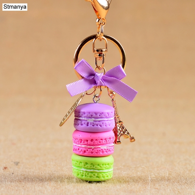 Фото женский брелок для ключей в виде торта модный милый французского цена