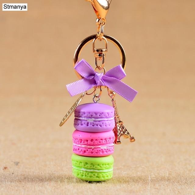 Women Cake Key Chain Fashion Cute French pastries Keychain Bag Charm Car Key Ring Wedding Party gift Jewelry 17278 1