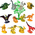 2inch 12pcs BOHS Dinosaurs and Trees PVC with Base Models Building Kits Toys