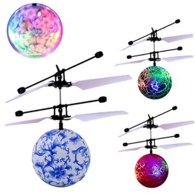 Mini drone RC, avion volant, boule volante, jouets brillants, éclairage LED quadrirotor, pour enfants 2