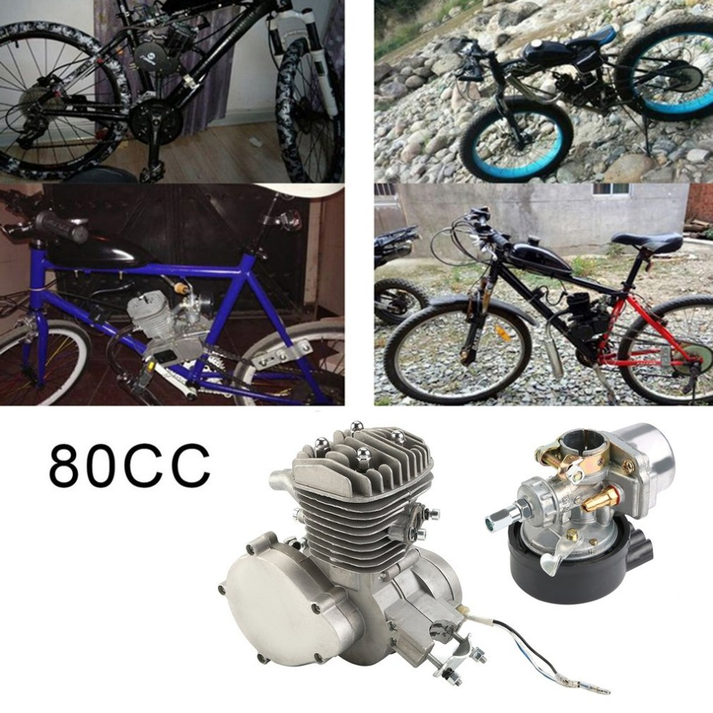 Newest Professional 80CC 2-Stroke Engine Motor Start Starter Pockets Mini Bike Scooter Two Stroke Bicycle Engine Kits ship from usa 2 stroke 80cc motor blike bicycle engine kits gas bike kit c80 with suitable price