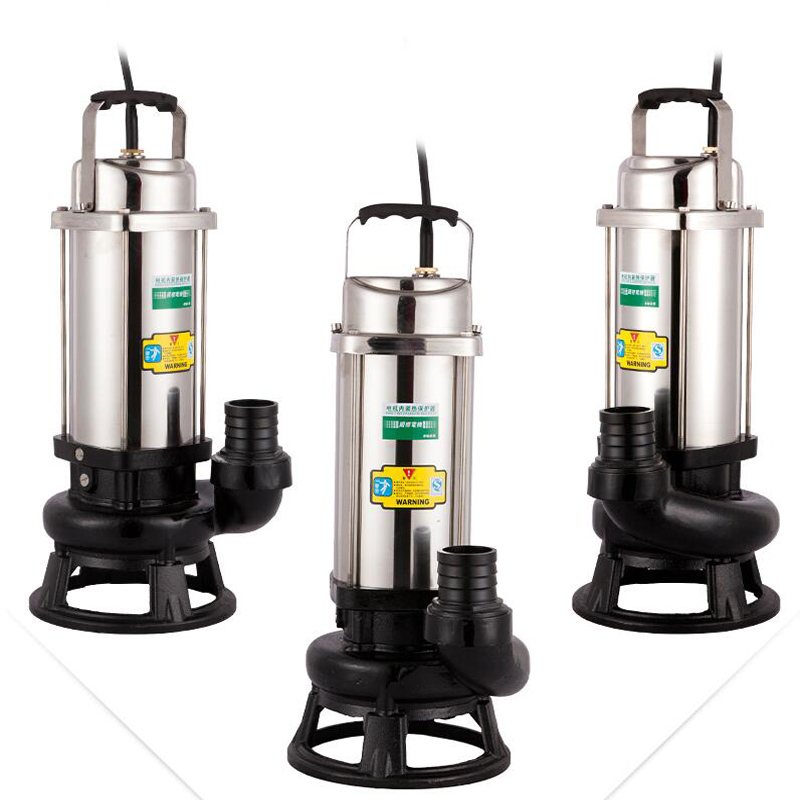 Automatic Sewage Lift Pump Household 220V Stainless Steel Septic Tank Toilet Kitchen Submersible Water Pump 380V WQDJ-10-8-0.75