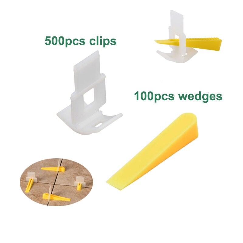 100Pcs Tile Leveling Spacer Construction Tool System Level-Lippage /& Wedges UK