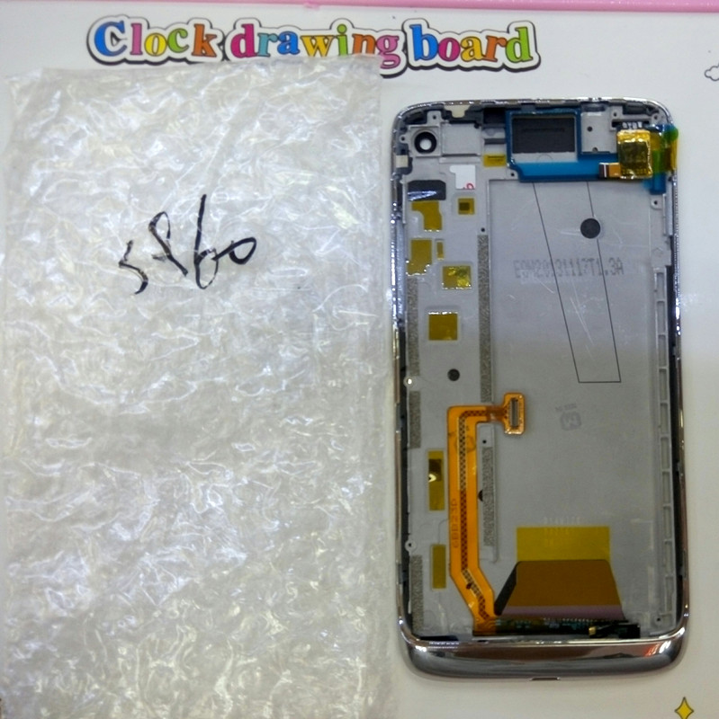 For Lenovo VIBE X S960 Mobile Phone LCD Display + Touch Screen Digitizer Assembly With Frame Free Shipping+Track Number