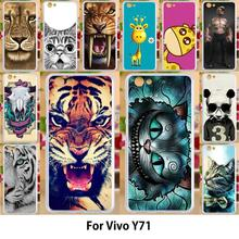 Anunob Case For Vivo Y71 Cases TPU Soft Silicone 6.0 inch Cover For Vivo Y71 Covers Painting Cat купить недорого в Москве