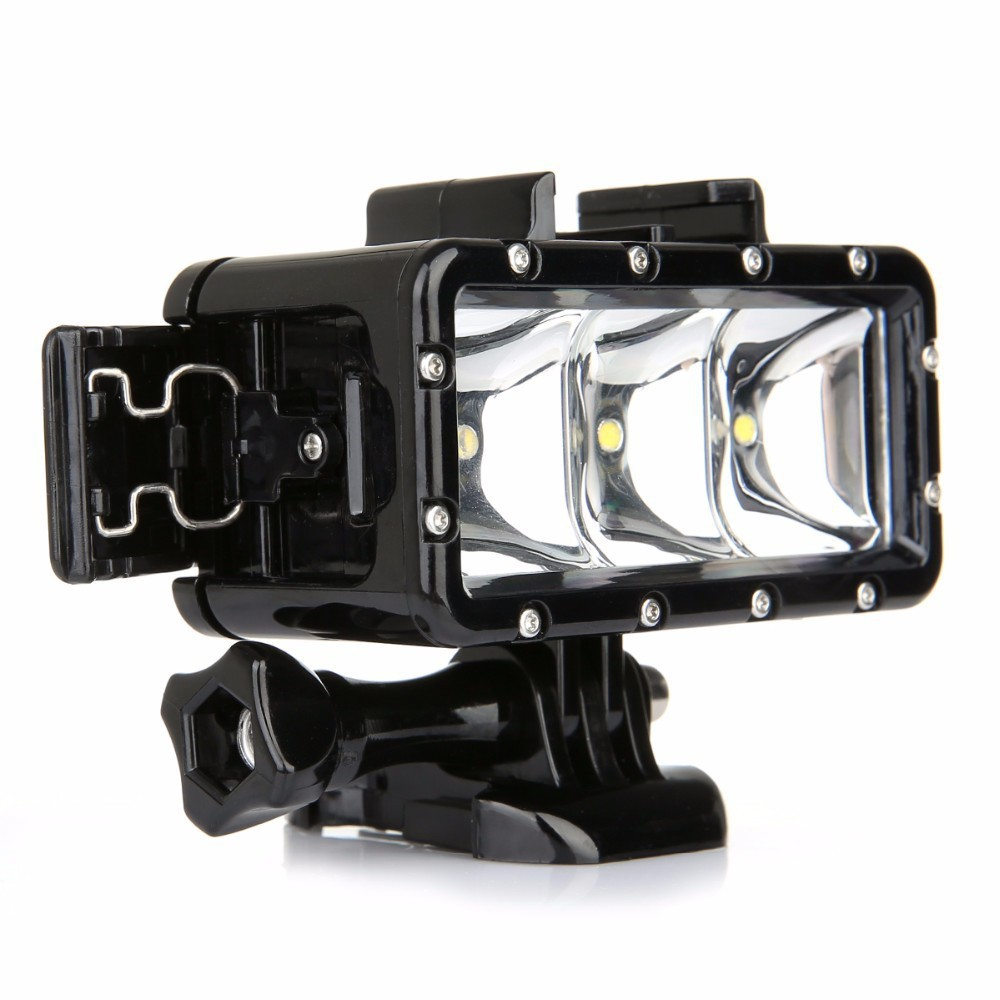 gopro flashlight lamp underwater diving waterproof led. Black Bedroom Furniture Sets. Home Design Ideas