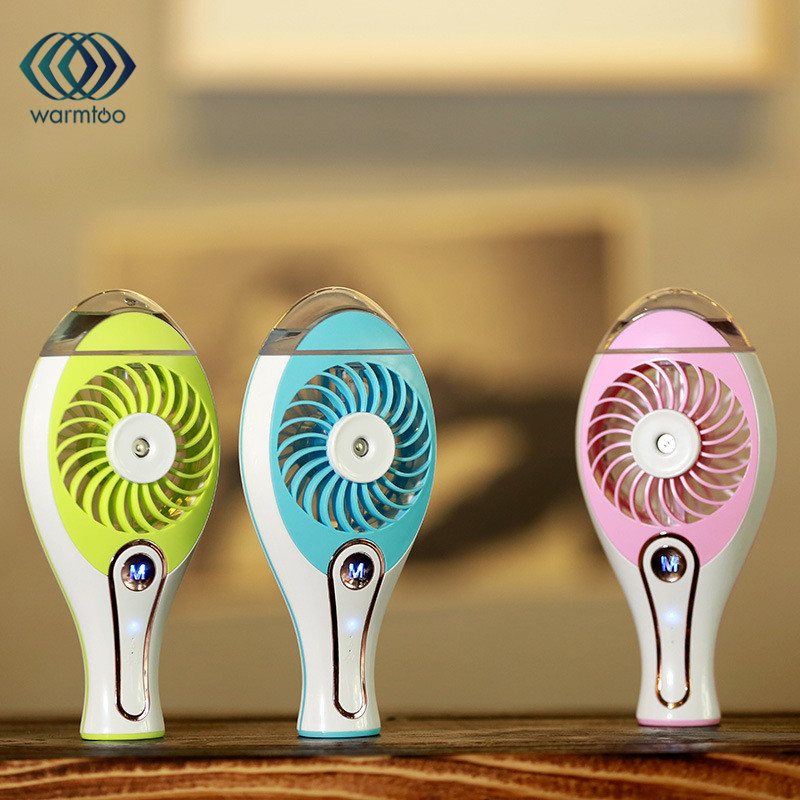 New 2 in 1 Design 3W Rechargeable 2000 mAH Battery Mini USB Fan Spray Humidifier Air Condition Cool Fan For Home Comfort new air condition condenser fan motor