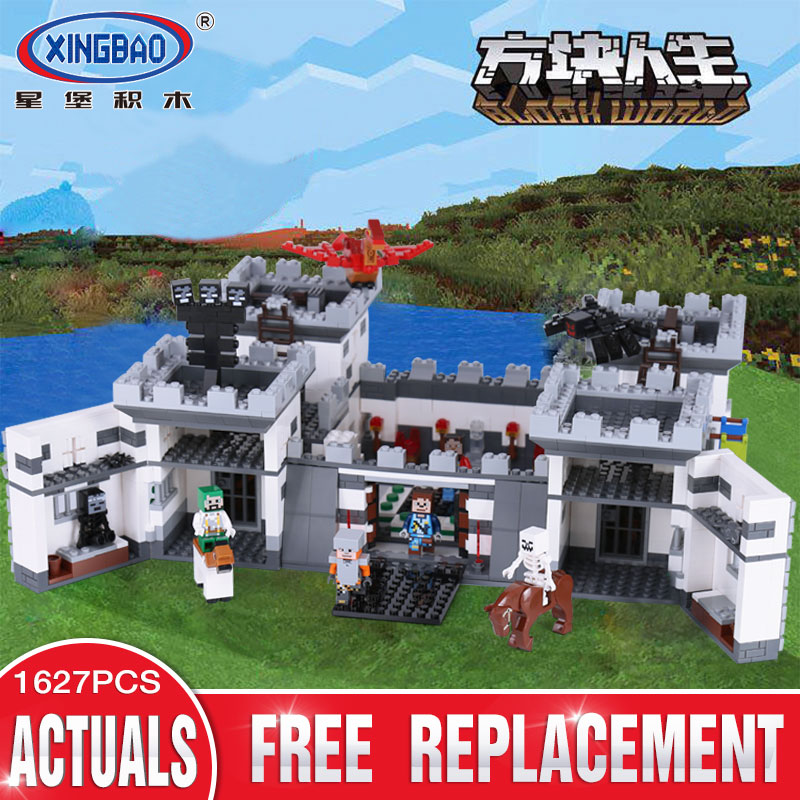 Xingbao 09005 1627Pcs Block Series The Castle of Holy War Set Children Building Blocks Bricks Boy Educational Toys Model Gift wange mechanical application of the crown gear model building blocks for children the pulley scientific learning education toys