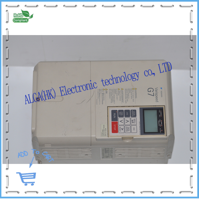 CIMR-G7A45P5 Yaskawa G7 series inverter CIMR G7A45P5 5.5KW 400V had been test package sale. dhl ems 1pcs original for yaskawa a1000 inverter cimr ab4a0031faa