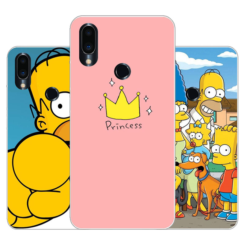 Meizu note 9 Case,Silicon Joy crown cartoon Painting Soft TPU Back Cover for Meizu note9 protect Phone cases