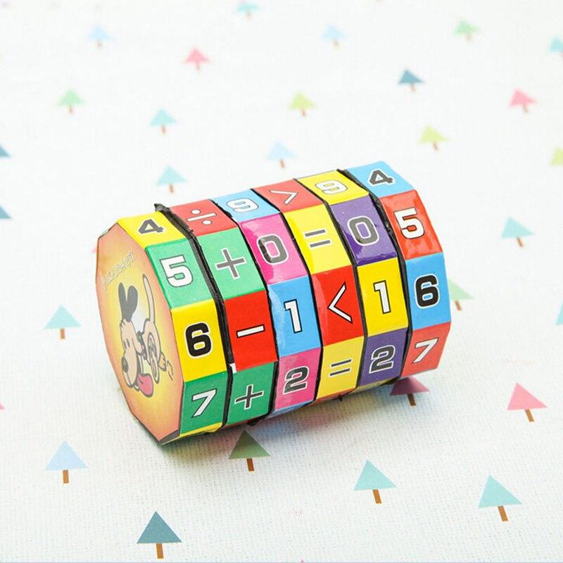 Красочные 6 слоев умный пазл играющий кубик цифры и знаки дети весело образование обучение математика игрушка для детей Подарки