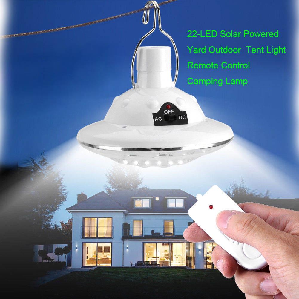 Obliging 22 Led Remote Control Solar Lamp Hooking Camp Garden Lighting Outdoor Indoor Lb88 Rapid Heat Dissipation Outdoor Lighting