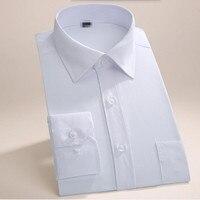 New Arrival Men Shirt Tailor Made Men Wedding Shirt Elegant Gentleman Solid Color Business Formal Occasion
