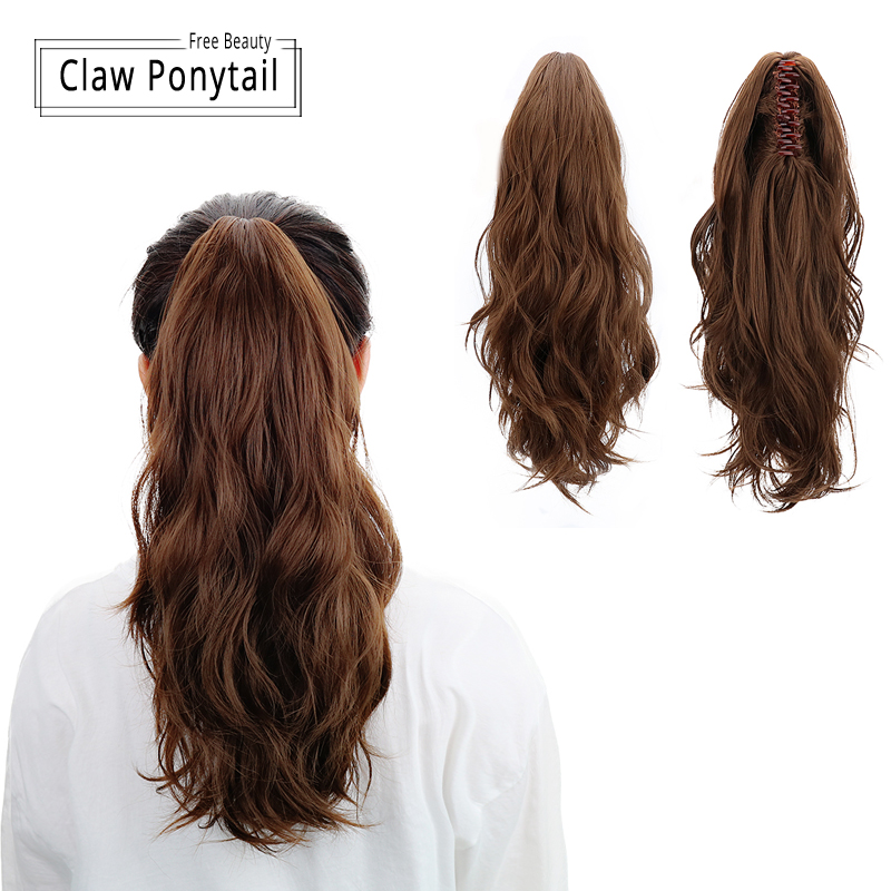 """Image 3 - 18""""Synthetic drawstring ponytail Claw Clip In Hair Extensions Hairpiece Natural Curly Clip In Human Hair Extensions Ponytail Wig-in Synthetic Ponytails from Hair Extensions & Wigs"""
