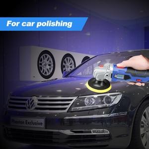 Image 4 - Máquina de polimento automotivo, com 16v, bateria de lítio, portátil, sem fio, 5 níveis, velocidade ajustável, máquina de polimento, m10 rosca