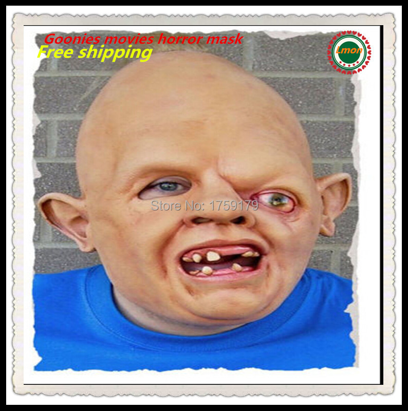 free shipping adults deluxe latex goonies sloth fancy dresshalloween mask hey you guys