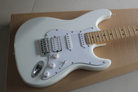 Factory store white ST signature HSS pickups maple fretboard 6 string Electric Guitar Guitarra