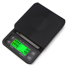 Portable 3kg 0.1g Drip Coffee Scale With Timer Electronic Digital Kitchen Scale New Design High Precision LCD Electronic Scales
