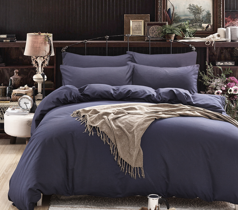 Solid Color Bedding Set Super Soft King Queen Full Twin