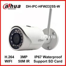 Dahua 3-МЕГАПИКСЕЛЬНАЯ Ip-камера DH-IPC-HFW2325S-W WI-FI Камеры 50 М Ночного Видения IP67 доказательство Воды Беспроводной SD Карты Слот Сети Пуля камера