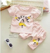 2017 Spring New Children's Set Korean Cotton Boy Short-sleeved T-shirt+ Shorts Two-piece Suits Summer Kids Outfits QHX017