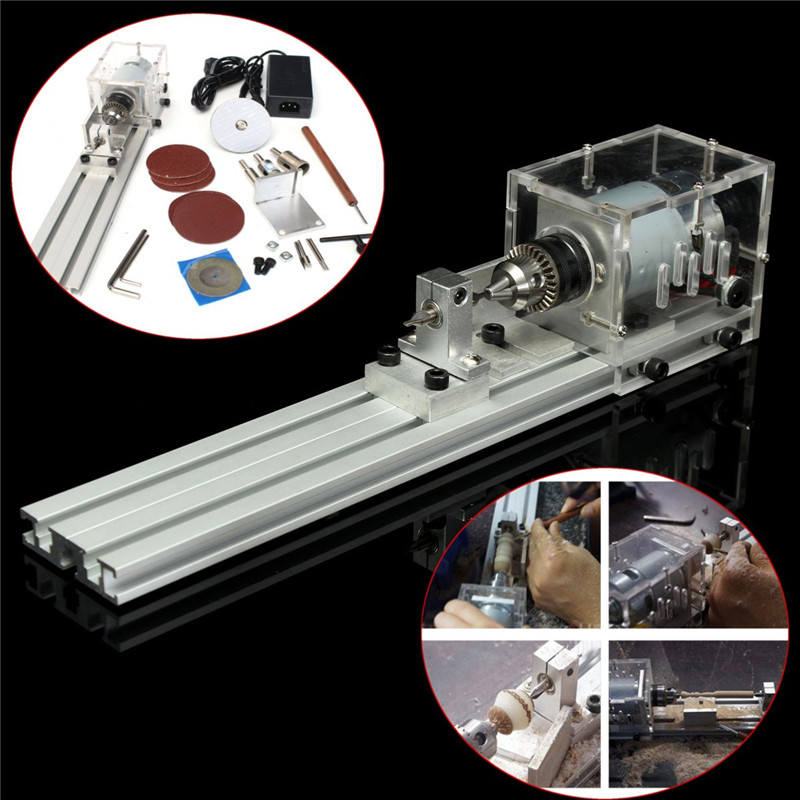 New Arrival Mini Lathe Beads Machine Polisher Table Saw Mini DIY Wood Lathe for Cutting and Rounding cc01 mini lathe beads machine