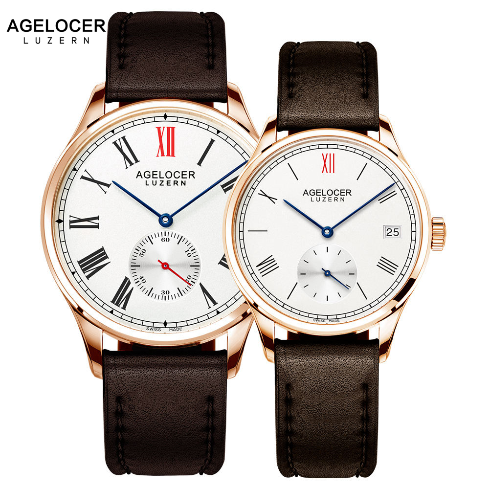 Swiss New Fashion Design Brand Lovers Watch Women Men Leather Band Vintage Automatic Analog Wrist Watch relojes Christmas Gift classic ulzzang brand vintage genuine leather women men lovers quartz wrist watch gift black white brown