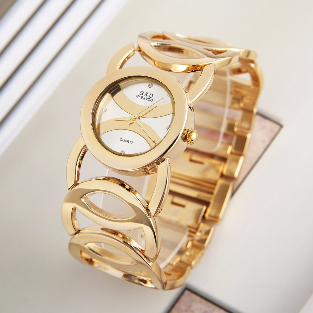 G&D Luxury Brand Women's Bracelet Watches Gold