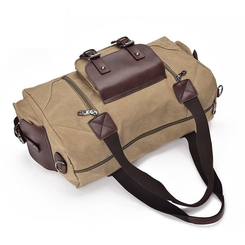 Famous Brand Men Vintage Canvas Men Travel Bags Women Weekend Carry On Luggage & Bags Leisure Duffle Bag Large Capacity Handbags (12)