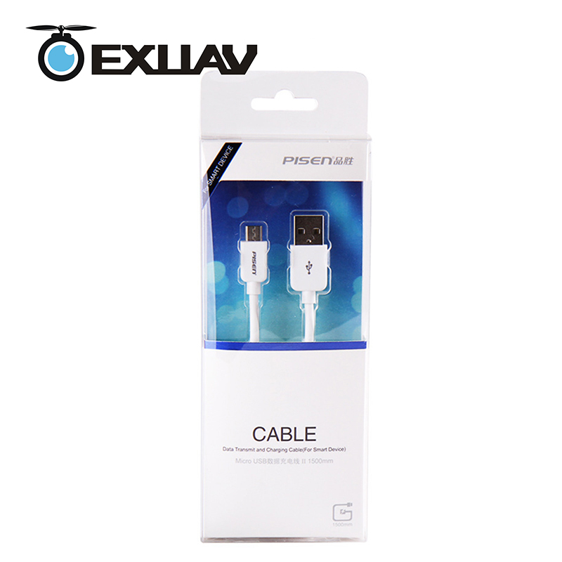 EXUAV Pisen Micro USB 2 Data Transmit /Charging Cable 1500mm For Pix