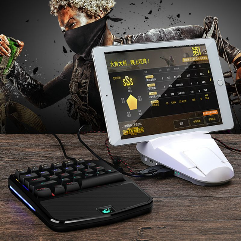 e17c1a57742 K9 LED Backlit Mechanical Keyboard One/Single Hand USB Wired Gaming ...