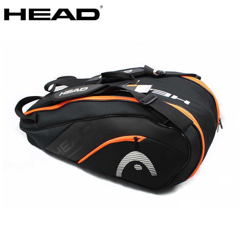 Original Head Tennis Bag Tennis Racket Bag Badminton Padel Tennis Racquet Bag For 6-9 Racquet Tenis Raquete Tennis Backpack Men