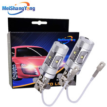 2pcs H3 LED Cree Chips XBD 30W Car Fog Light Running Light Reserve Car Led Bulb Auto Light Source Parking 6000K стоимость