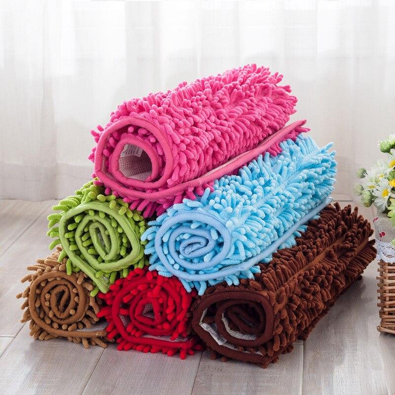 Nouveau mode Solide Doux Shaggy matériau tapis de chevet chambre tapis de sol intérieur salon tapis doux pour thé table de bonbons couleurs