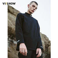 VIISHOW New T Shirt Men 100 Cotton T Shirt Men Black Tshirt Long Sleeve Top Tees