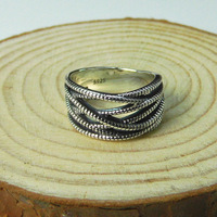 925 Sterling Silver Silver Lady retro pattern new exaggerated ring finger