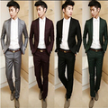 2015 new arrival terno masculino British style gentleman dress suits men latest coat pant designs, men blazer and suit pants