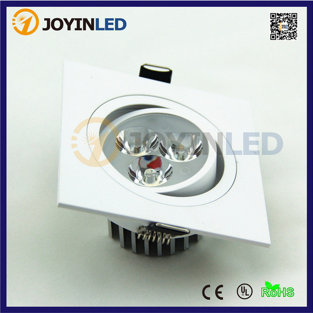 AC85~265V 3W 6W square led ceiling down light no cob dimmable led ...
