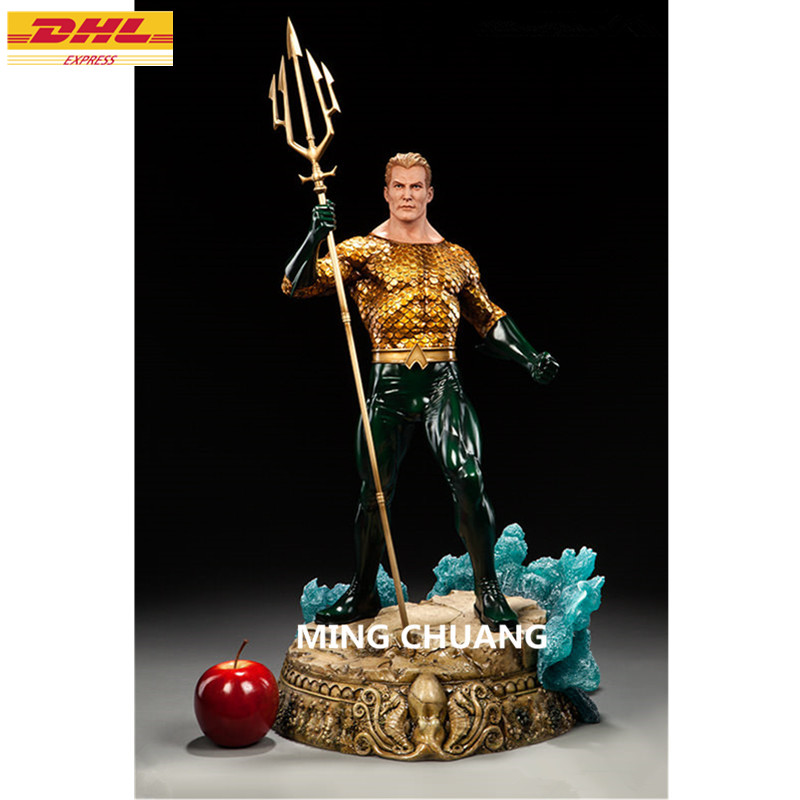 12 Justice League Statue Arthur Curry Bust Superhero Aquaman Full-Length Portrait GK Action Figure Toy BOX 30 CM Z213 фанатская атрибутика nike curry nba