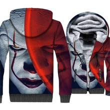 Batman Joker 3D Jacket Men Hot Sale 2019 The Dark Knight Sweatshirts Winter Warm Mens Hoodies Hip Hop Streetwear For Fans