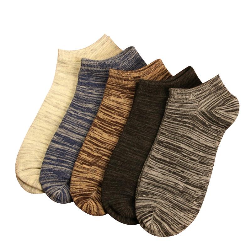 10pcs=5 Pairs New 2020 Men Short Socks Vintage Nation Style Casual Ankle Socks Men's Low Cut Absorb Sweat Male Boat Socks Meias