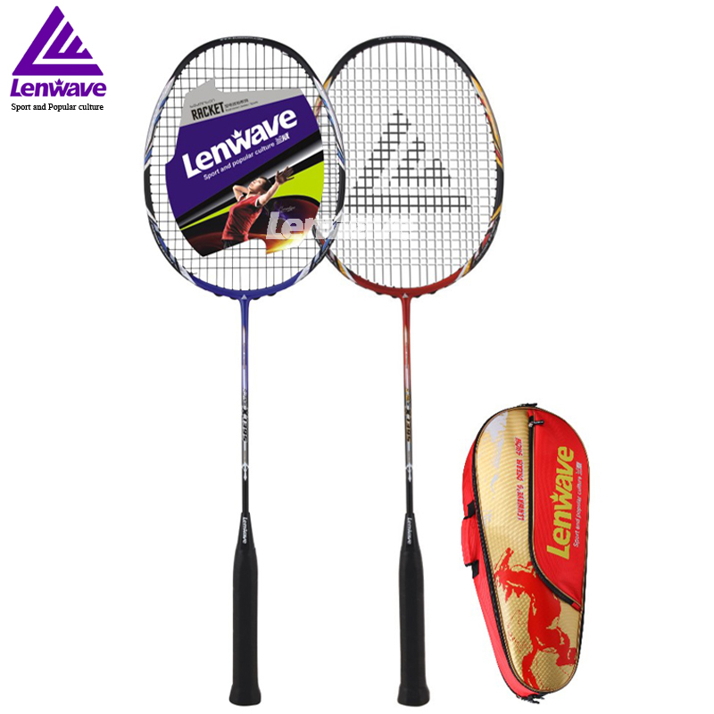 High Quality Carbon Fiber Badminton Racket And Racket Bag Adults Sports Training Fitness Equipment EMS DHL Free Shipping Mail