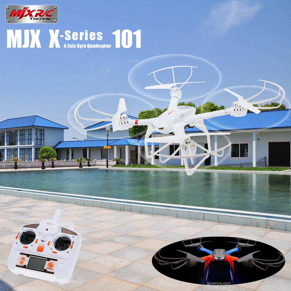 MJX X101 2.4G 6-Axis Gyro Headless Mode One Key Return Flying Drone 3D Roll RC Quadcopter Aircraft VS JJRC H8D H11D H12C with more battery original jjrc h12c drone 6 axis 4ch headless mode one key return rc quadcopter with 5mp camera in stock
