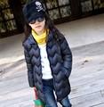 Nova Warmer inverno Doudoune qualidade jaqueta meninas criança casaco de inverno com capuz Enfants B505