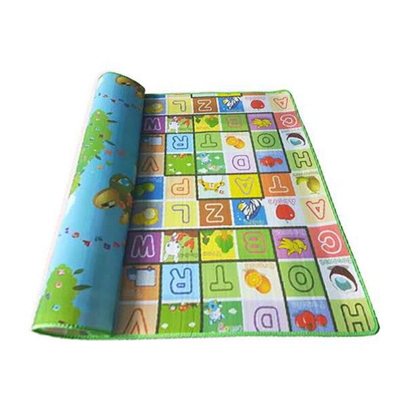 Tapis rampant bébé 5mm Double face chenille Pad nourrissons jeux jouet étanche à l'humidité tapis bébé tapis doux éducatif tapis de jeu 3