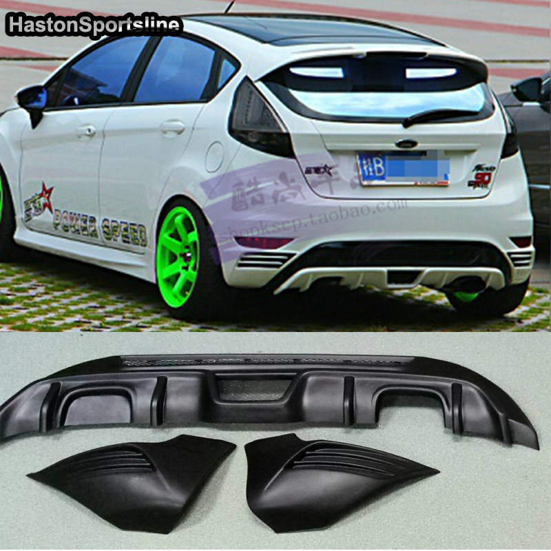 Fiesta MK7 ST Style ABS Rear Bumper Lip Diffuser Bumper Apron Splitter for Ford Fiesta MK7