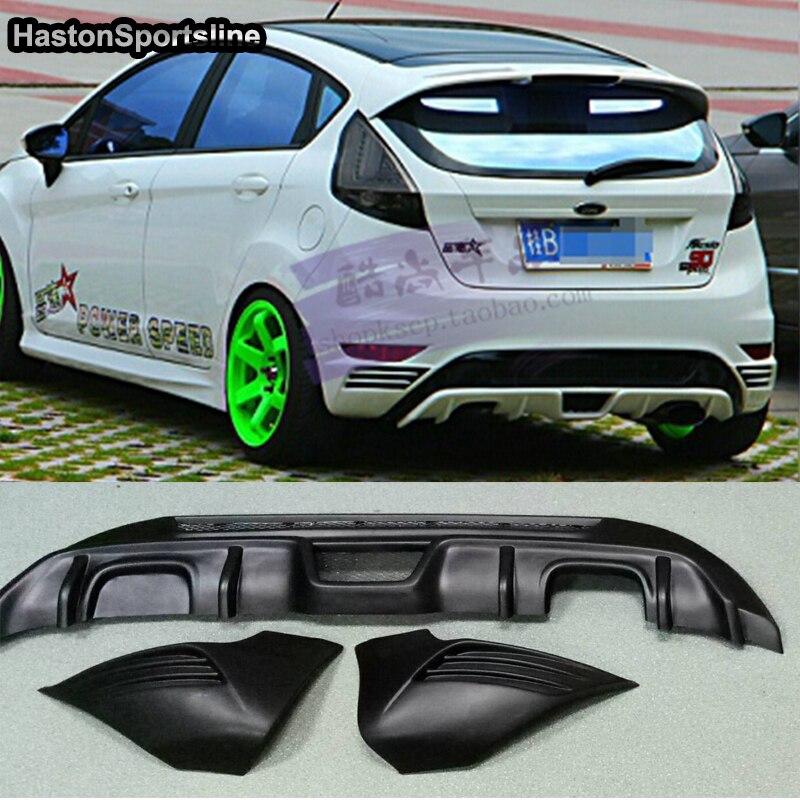 US $109 98 23% OFF|Fiesta MK7 ST Phong Cách ABS Rear Bumper Lip Diffuser  Bumper Tạp Dề Splitter cho Ford Fiesta MK7 2008 2012 trong Fiesta MK7 ST